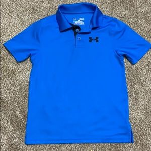 Under Armour blue gold shirt size YS